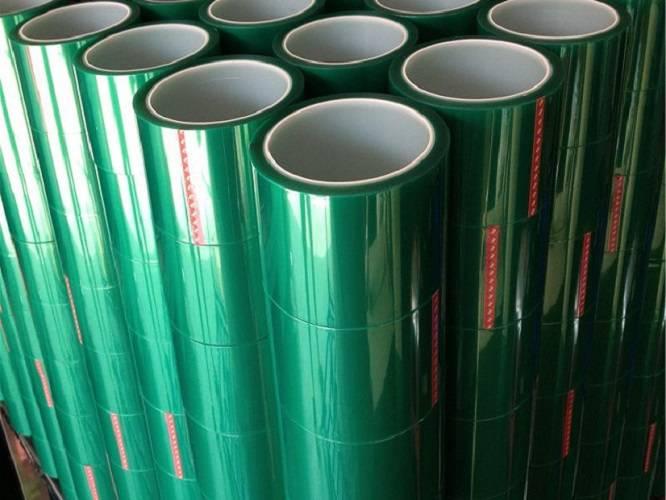 绿色硅胶带 PET高温胶带 烤漆遮蔽胶带