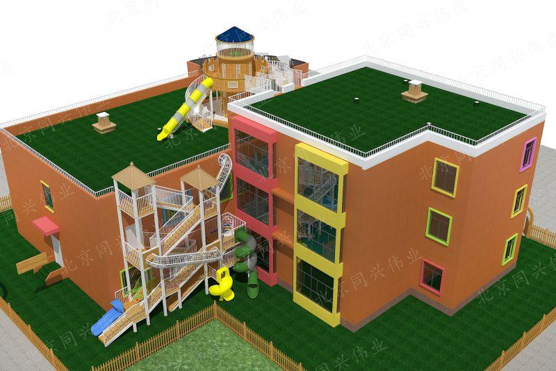 北京同兴伟业热销定制 幼儿园整体规划设计、体能拓展攀爬训练、儿童组合滑梯(热销现货)