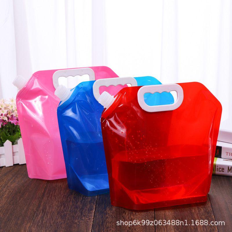 透明加厚5L吸嘴袋_33mm大口径手提自立装水袋包装袋_液体