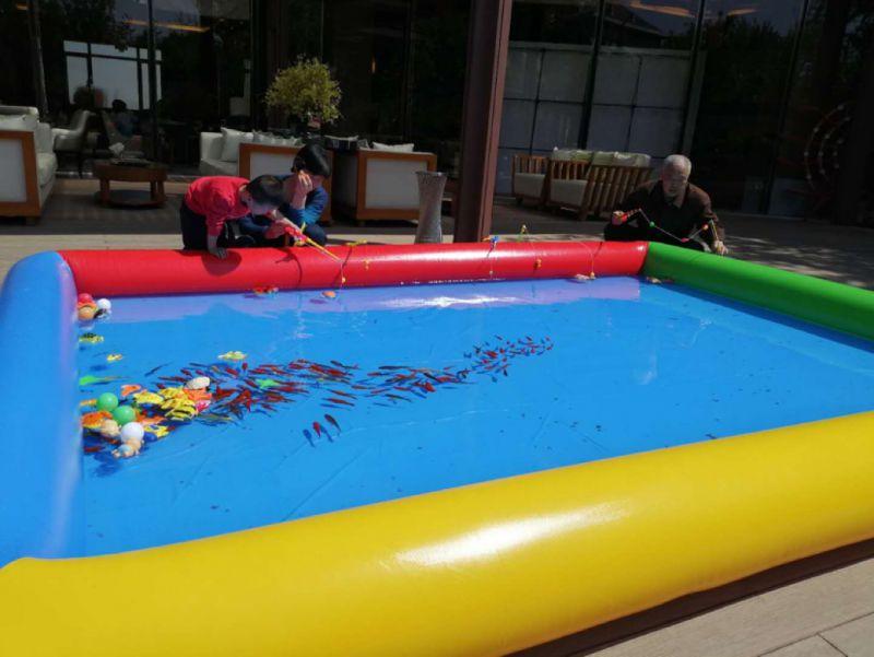 充气沙滩池 充气摸鱼池售价 玩具沙池游乐场