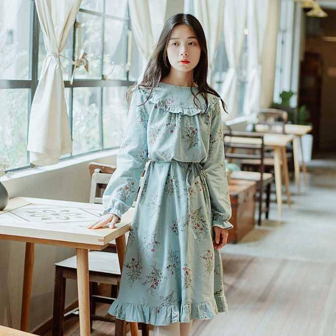 乌鲁木齐英吉沙服装批发 19秋新款连衣裙 新疆品牌服装批发