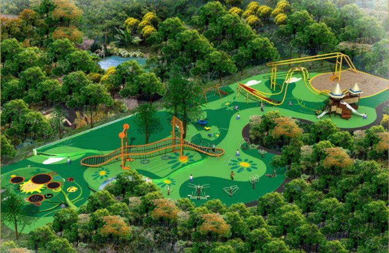 星球大战造型滑梯 原生态拓展攀爬 木质滑梯 户外景区整体设计 幼儿园户外玩具设计