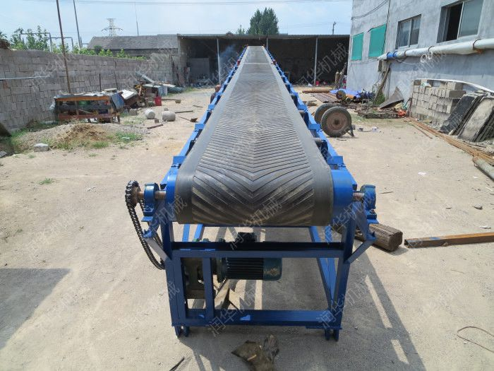 高栏装车带式输送机   货物上料输送机  加宽加厚皮带机