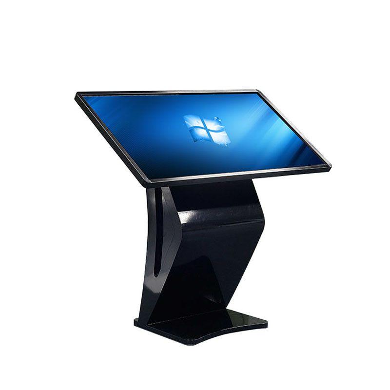 55寸黑色K型触控一体机 斜面触摸屏广告机