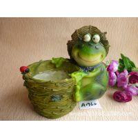 晨宇批发树脂卡通动物青蛙花缸 树脂花盆 花园庭院摆设A1962
