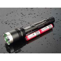 供应大功率手电 高亮度creet6远射led铝合金手电筒