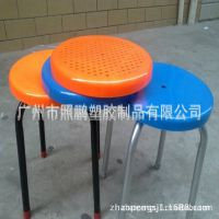 批发供应广州不锈钢圆凳,学生实验室椅子 铁脚靠背椅子圆凳