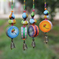 民族手工 彩绘 天然葫芦批发 象棋鼓风铃挂件挂饰 特色民族风礼品