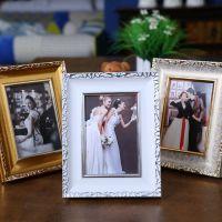 相框厂家定制 欧式花纹 PS发泡 5寸 7寸摆台小相框【弘艺相框】婚纱影楼框