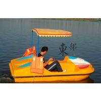 公园游玩脚踏船 园区休闲观光玻璃钢小船