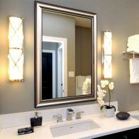 现代卫生间/酒店卫浴浴室镜子 长方欧式镜子 厂家定制香槟色挂镜 W6500