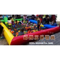 广场经营儿童游乐产品绿色健康决明子充气沙池