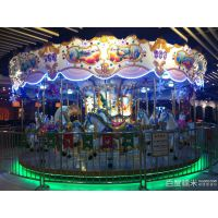 儿童游乐园旋转木马 大型室内豪华转马 成人版亲子款灯光音乐豪华转马