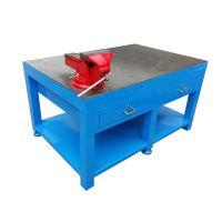 模具钢板台定制厂,四抽屉钢板桌,电木板模具钢板台,非标定制规格重型台