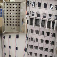 山西 长治学校手机充电柜价格多少钱 30门金属手机存放柜小门透明