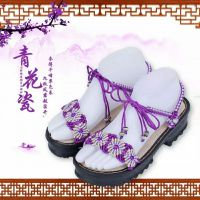 涂图手工坊 太阳花凉鞋系列女 中国结线全手工编织