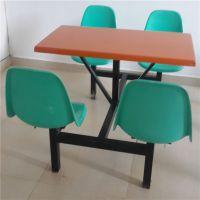 饭堂8人圆凳餐桌椅厂家批发 分体餐桌椅尺寸可定制 耐用性餐桌椅