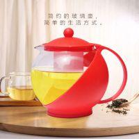 1250ml 如意壶 玻璃壶水果茶咖啡壶泡茶壶 外贸精品耐热茶壶