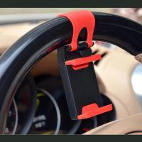 新款通用车载手机支架 汽车方向盘手机支架 车载导航架 伸缩式夹
