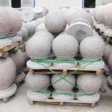 40公分花岗岩圆球价格,广场挡车石重量