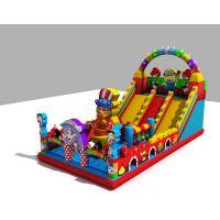 充气气模40平米蹦床 游乐城充气城堡滑梯收益 小孩充气蹦蹦床都有多大规格