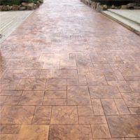 混凝土面层装饰 彩色混凝土压花地坪 仿石材橡胶模具压出纹理