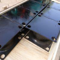 夹钢板橡胶减震器 钢板橡胶减震支座 机械设备用带钢板橡胶减震器
