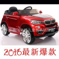 宝马儿童电动汽车三四轮摩托双驱带摇摆遥控1-3-5岁可坐人玩具