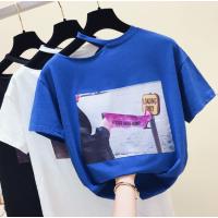 纯棉拉架棉女士T恤夏季热卖韩版短袖出口外贸女装上衣哪里有尾货批发