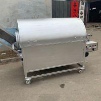 不锈钢滚筒炒面机 大型电加热炒货机 500斤不锈钢内胆炒货机