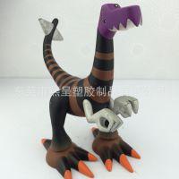 出口日本搪胶公仔 PVC动物塑胶玩具定做 厂家供应斯科拉恐龙玩偶