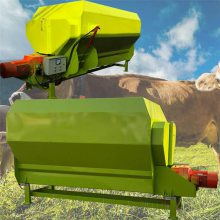 TMR全日粮饲料搅拌机 双轴电动混料机 润丰牧草料搅拌机