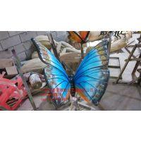 广州豪晋 玻璃钢仿真昆虫蝴蝶雕塑 厂家直销