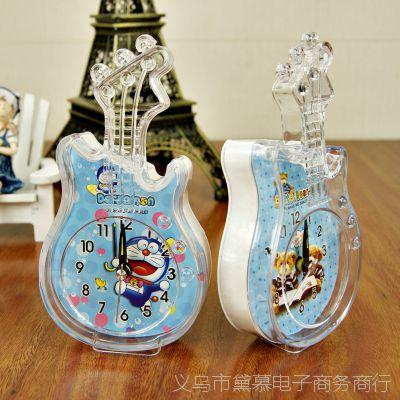 K2123 RF143A小提琴卡通闹钟,学校学生员工上班准点闹铃创意