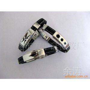 供应PU手镯 皮革手链 硅胶礼品\硅胶腕带、手环、不锈钢手环、手链