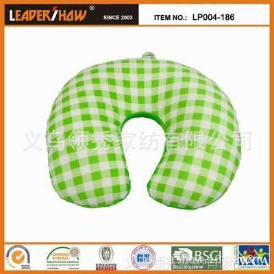 【LEADERSHOW】厂家直销/苏格兰格子U形枕/泡沫颗粒护颈枕/旅行枕