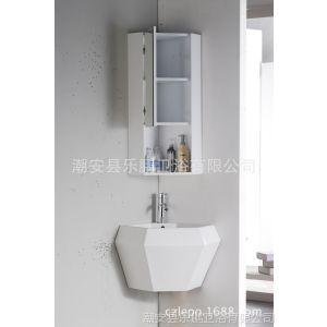 供应【转角柜】乐鹏PVC浴柜 卫浴柜 生产厂家 带实用镜柜 储物柜