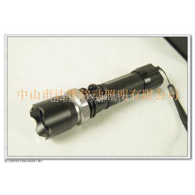 供应02款可调光的LED手电筒 高亮度led强光手电Q5 CREE手电系列