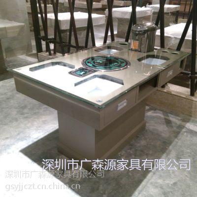 多功能铁艺餐桌定做厂家 广森源家具带抽屉的餐桌供应商 厂家直销