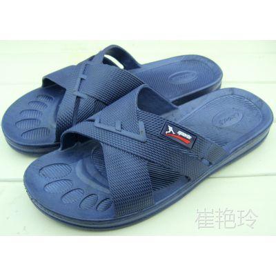 男式大码交叉带吹气底夏季防滑居家室内拖鞋洗澡拖宾馆浴室拖鞋