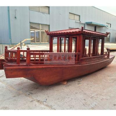 贵州木船厂家热销中式木船观光船摇橹船旅游客船