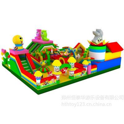 儿童娱乐熊出没大滑梯、大型充气玩具质量和卧龙一样、价格低、不信你就进来看
