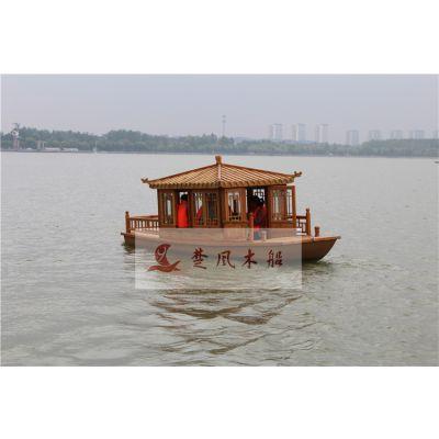 木船房屋公园景区观光船休闲旅游客船