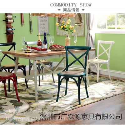 美式乡村铁艺餐桌椅定制厂家 复古家用咖啡厅户外铁艺椅子定做厂家