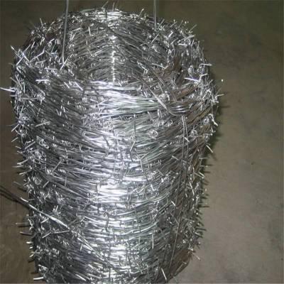带刺铁丝 铁蒺藜厂家 镀锌毛铁丝
