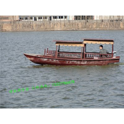 湖南常德木船厂家出售手划木船旅游观光船 景区客船