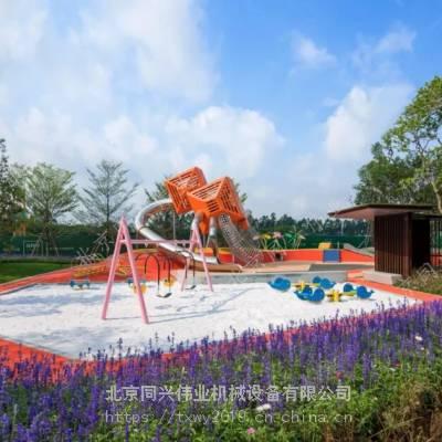 厂家直销定制儿童运动空间设施 户外不锈钢滑梯 木制树屋滑梯 景观儿童游乐设施