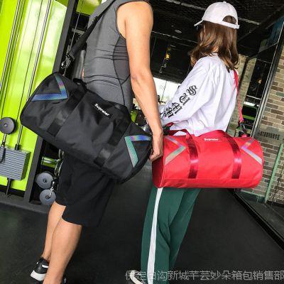 2018健身包女运动鞋位训练包瑜伽干湿分离包防水游泳包短途旅行包
