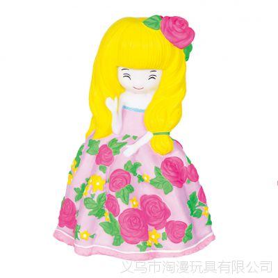 E区大号卡通摔不坏搪胶娃娃白坯儿童DIY陶瓷石膏彩绘娃娃白坯批发