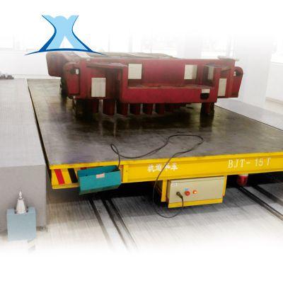 非标定制 大吨位迁车台台车轨道搬运车大吨位V型架打孔轨道转运车